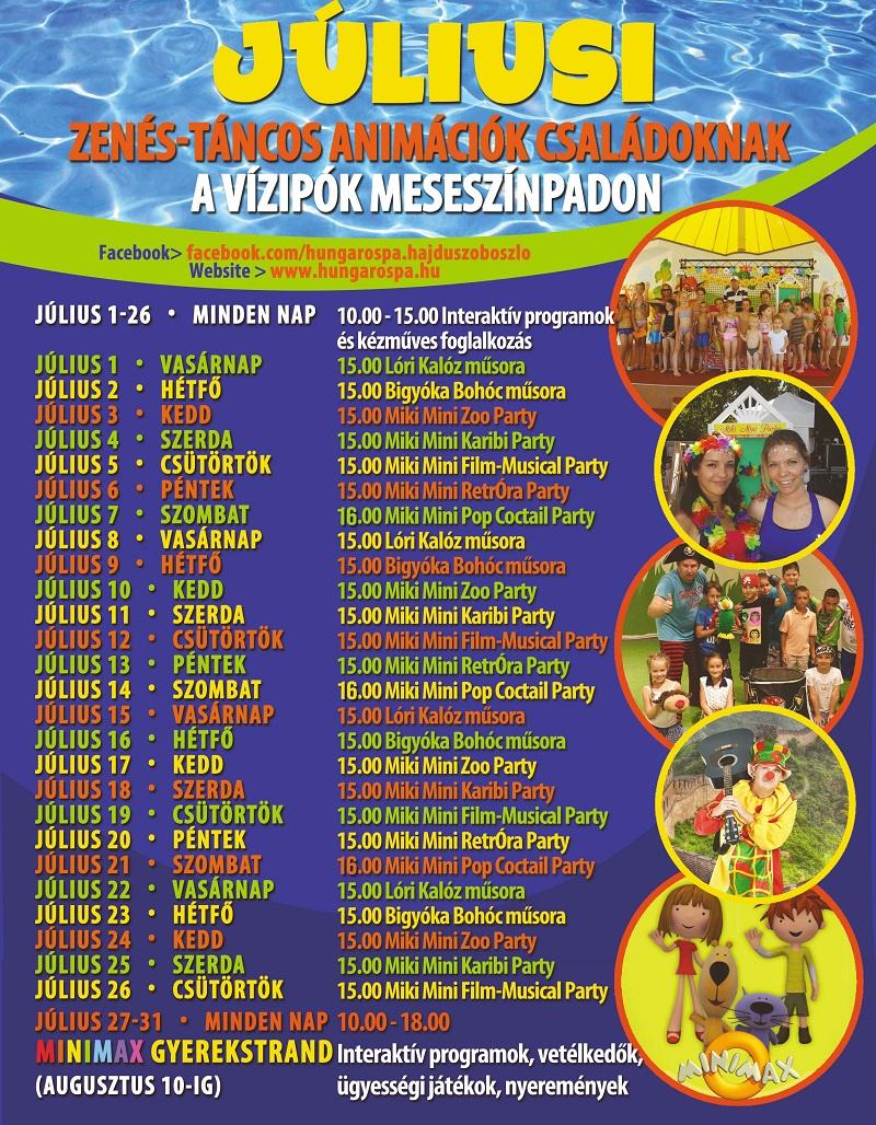 Júliusi gyerek programok 2018 2 800
